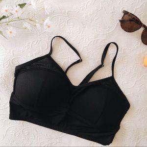 Athleta • Mesh Bralette Bikini • Black